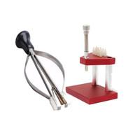 herramientas de reparación de relojes para la venta al por mayor-Al por mayor-Venta caliente mano Presto Presser Press + Lifter Extractor émbolo removedor reloj reparación Kit de herramientas para relojero