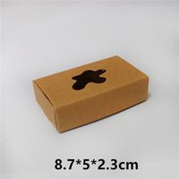 Wholesale Personal Candy - Gift Candy Cookies Window Box Handmade Soap Gift Packaging Kraft Paper Boxes 8.7*5*2.3cm Free Shipping