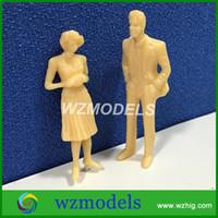 Wholesale Architectural Model Figures - 20pcs Architectural Model Figure 1;25 Skin Color Plastic Miniature Model People