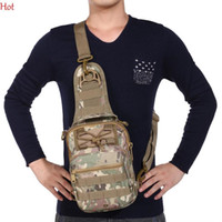 Wholesale Bicycle Silk - Sling Military Backpack Tactical Travel Cycling Bags One Shoulder Messenger Hiking Bag Mens Waterproof Outdoors Bicycle Sport Bags SV128858