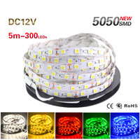 Wholesale Wholesale Home Wiring - 5M 300 LED 5050 SMD DC 12V LED Strip Light Non-waterproof Cool White  Warm White 60 leds m LED Flexible Light for Home