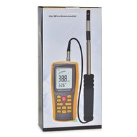 Wholesale Hot Wire Anemometer - Wholesale-GM8903 Hot Wire Digital Anemometer Wind Speed Air Flow Temperature Meter Measuring 0-30m s Accuracy 2oC High Quality Hot Sale