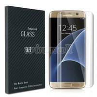 S6 Edge-Plus-Klar S7 Rand Ausgeglichenes Glas 3D Full Cover Curved Screen Protector mit Holz Retail Box