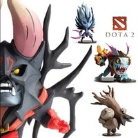 Wholesale Dota Figures - 4pcs Set Dota 2 Game Figure SLARK TINY Doom Boxed PVC Action Figures Collection dota2 Toys