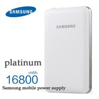 Wholesale External 4s - NEW original SAMSUNG external battery powerbank 16800mah portable charger mobile phone power bank for Samsung 4S 5S for iphone5