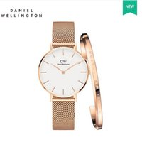 Wholesale Dressed Hooks - high quality Luxury Brand Daniel watches aaa 32mm Small dial fashion watch bracelet women dress quartz watches stainless steel Rose gold