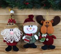 Wholesale Wholesale Snowing Xmas Tree - 2017 Hot Sale Santa Claus Snow Man Reindeer Doll Christmas Decoration Xmas Tree Hanging Ornaments Pendant Kids Best Gift