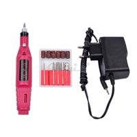 Wholesale Pedicure Grinders - Wholesale-Professional Nail Art Drill Set 6 Bits Electric Manicure Nail Tool Pen Manicure Pedicure Machine Nail Grinder Polisher Feet Care