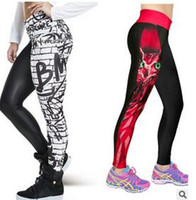 Wholesale Sale Printed Jeggings - Yoge Sport Tights Leggins Fitness Sport Women Leggings 3D Owl Print Long Pants Hot Sale Jeggings Leisure Legging Trousers hight quality free