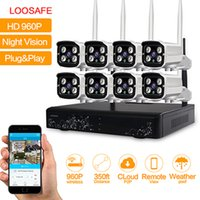 Wholesale Wifi Wireless Security Camera System - LOOSAFE 8CH 960P Security Camera System Waterproof Wireless Wifi Indoor and Outdoor Surveillance NVR CCTV IP Cameras