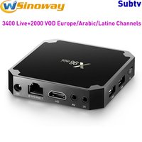 Wholesale 8gb server - Albania IPTV Box Android 7.1 Amlogic S905W With Europe Server Support Russia Greece Sweden Spain EX-YU Latino INDIA Brazil IP TV Channels