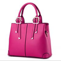 Wholesale valentines gift bags - Fashion Ladies Shoulder Handbags Designer Luxury Leather Tote Bag Sweet Women Messenger Bags Valentines Gift 10 Colors