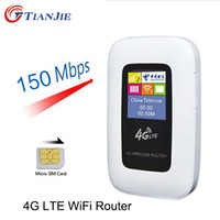 Wholesale Wcdma Mobile Router - LTE WCDMA GSM Unlocked Wireless Pocket Router Mobile WiFi Hotspot 3G 4G WiFi Router with SIM Card Slot