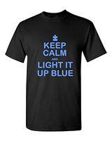Wholesale Cheap Light Up T Shirts - Paint Print Cheap T ShirtKeep Calm Light Up Blue Unisex T-shirt Autism Awareness Month Shirts100% Cotton Custom Made Tee Shirts