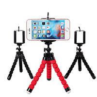 Wholesale Octopus Iphone - Universal Octopus Sponge Flexible MINI Tripod Digital Camera Holder Mount Clip For Canon Stand Mount For Iphone 7 6S 8 Plus Gorrila Tripods