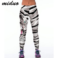 Polyester,Spandex black tiger fitness - Miduo Tiger Print Women yoga Pants Sport Fitness Running Tights Compression Trousers Sportswear Gym Leggings Yoga