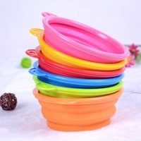 Wholesale NEW Pet bowls Products silicone Bowl pet folding portable dog bowls for food the dog drinking water bowl In stock