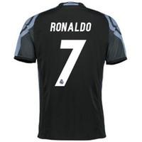 Wholesale Thai Wholesale Soccer Jerseys - Thai Quality 2016-17 Champions League #7 RONALDO Jersey ,2016-17 3rd Away Black Madrid Black-Purple Soccer Jerseys Football Tops Customized