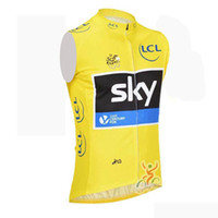 Wholesale Sleeveless Cycling Jersey Sky - Pro team SKY bike cycling jersey sleeveless vest breathable summer cycle clothing MTB Ropa Ciclismo Bicycle maillot D0639