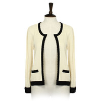 Wholesale Vintage Cardigans For Women - European Style Laides Spring Autumn Elegant Short Cardigan Overcoat Vintage Knitted Coat for Women a+ Sweater