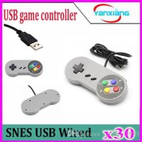 Palanca de mando retra de Gamepad Joypad del regulador retro del color del USB retro clásico 30PCS 2016 para Nintendo SF para la PC de Windows de SNES para / -MAC Replaceme ZY-PS3-17