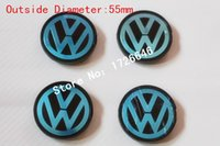 Wholesale Vw Abs - New 4PCS lot 55mm VW Volkswagen Wheel Center Cap cover Wheel Hub Cap Germany Flat Face Emblem Badge For Volkswagen 6N0601171 car styling