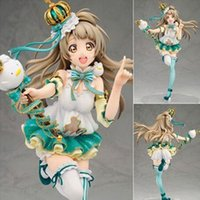 Wholesale japanese high quality love dolls - High Quality ALTER Love Live Japanese Anime Figure Minami Kotori Action Figure scale painted Snowman Ver Doll Model Toy 22cm