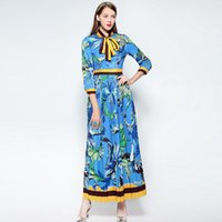Wholesale United Yarn - The new Europe and the United States women's clothing in the summer of Heavy net yarn embroidered silk condole belt dress