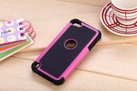 Wholesale Hard Case For Touch 4g - Armor Hybrid Ballisitc Hard PC Silicone Case Camo Heavy Duty Dual Color Football for Ipod Touch 5 6 Iphone 5 C 5C SE 5S 4 4G 4S skin Luxury