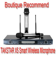 Wholesale Cheap Professional Wireless Microphones - Cheap Promotions RF LCD Top Boutique TAKSTAR X5 UHF Wireless Microphone System Professional Karaoke Microphone household Mic offers 200