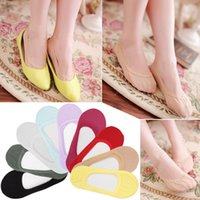 Wholesale Thin Cotton Slippers - Wholesale-1pair Summer Style Women Invisible Ankle Lace Socks Slippers Cotton Shallow Mouth Brand Sock Thin Solid Color Sock A1