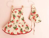 Wholesale Strawberry Scarves - hot sale ins 2016 summer autumn infant girls baby strawberry slip dresses romper pant & infant print flower scarf free ups dhl ship