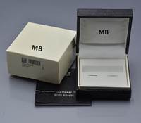 Wholesale Wood Cuff Links - high quality black Cufflinks box for luxury brand mb cuff links with The Warranty Manual Free shipping