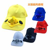 Wholesale butterfly pottery - Solar fan cap sun visor cap and peaked cap solar advertising hat
