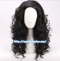 Wholesale Long Black Hair Man Wig - wig cosplay curly Film Moana Prince Maui Black Fluffy Long Hair Cosplay Curly Wig with Hair net Maui costume