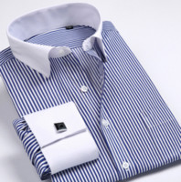 Wholesale Dresses Size 42 44 - Wholesale-5XL6XL Tuxedo Shirt French cuff shirts Men Shirts New Luxury Long Sleeve Brand Formal Business Fashion Dress shirts Plus size