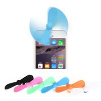 Wholesale Electric Fan Wholesale - Portable Cell Phone Mini Electric Fan Cooling Cooler For iPhone SE 5s 6 6s 7plus