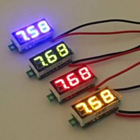 Wholesale Meter Leads Accessories - Wholesale-0.28 Inch 2.5V-30V Mini Digital Voltmeter Voltage Tester Meter LED Screen Electronic Parts Accessories
