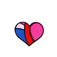 Wholesale Hearts Transfers - 10PCS Heart Embroidered Patches for Clothing Iron on Transfer Applique Patch for Dress Bags DIY Sew on Embroidery Badge