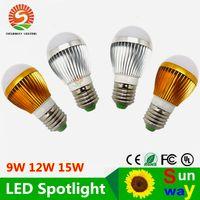 Wholesale led 15 w - 9 W 12 W 15 W E26 E27 Adjustable Ball Bubble Lamp AC110-240v High Power Light Globe LED light