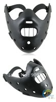 The Silence Of The Lambs Maschera Denti in acciaio Hannibal Lecter Masquerade Party Cosplay Costume Maschere in Resina 5 pz / lotto FreeShipping