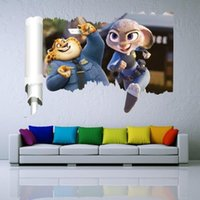 Wholesale 50 cm Zootopia wall stickers Window Stickers Living room bedroom Zootopia children wall stickers wall stickers home decor