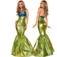 Wholesale Masquerade Cosplay Dresses - Girls role-playing Mermaid Costume dress big girl Mermaid dress up nightclub bar stage masquerade halloween children lady cosplay dress