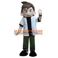 Wholesale Ben Costume - Wholesale-Ben 10 Boy Cartoon Mascot Costume Animal Fancy Dress Outfit Mascot Costume Free Shipping