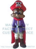 Wholesale Squirrel Mascot Costumes - squirrel pirate mascot costume custom cartoon character cosply adult size carnival costume 3142