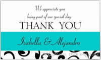 Wholesale Wedding Favor Sticker Labels - 2016 Price Tag Gun Labeler Etiquetadora De Precios Price Label Gun 1.5inch Teal, Black Wedding Favor Thank You Message Rectangular Sticker