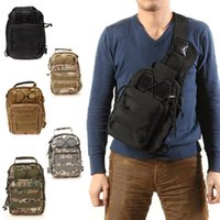 Wholesale Shoulder Bag Men Military - Ship from USA! Outdoor Military Shoulder Tactical Backpack Rucksacks Sport Camping Travel Bag Day Packs Backpack