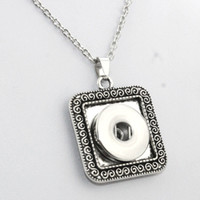 Wholesale women's rhinestone choker for sale - Boom Life Long Necklaces And Chokers Bohemian Necklaces Pendants Women S Vintage18mm Snaps Button Necklace Jewelry For Men