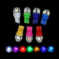 Wholesale 40pcs T10 V Colorful SMD LED W5W Car Side Wedge Tail Light Lamp License Plate Super Bright Bulb Red Blue White Green Yellow