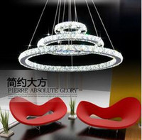 Wholesale Cheap Led Pendant - Cheap Factory Price!!! LED Lustre Crystal Chandelier Lighting Modern Dining Room Pendant Lamp Living Room Creative Design Pendant Light DHL